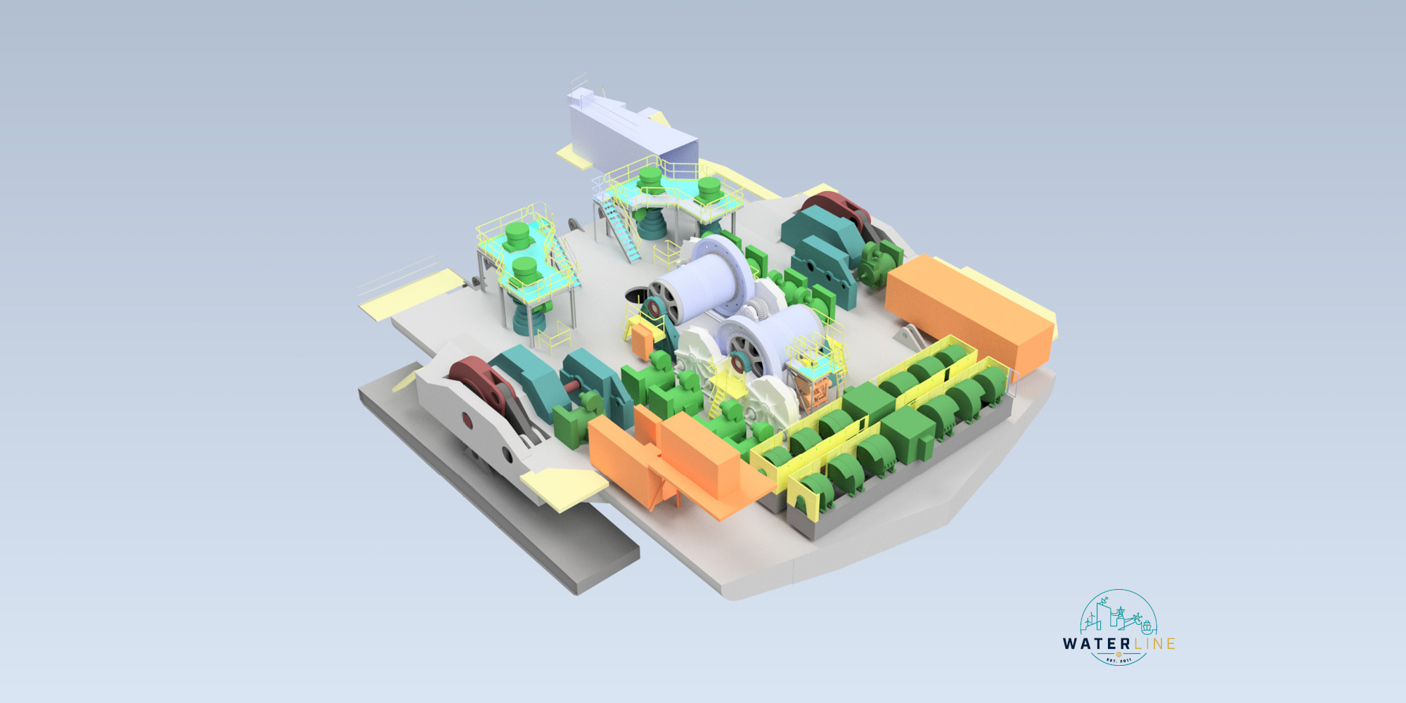 Part of the 3D model created by Waterline