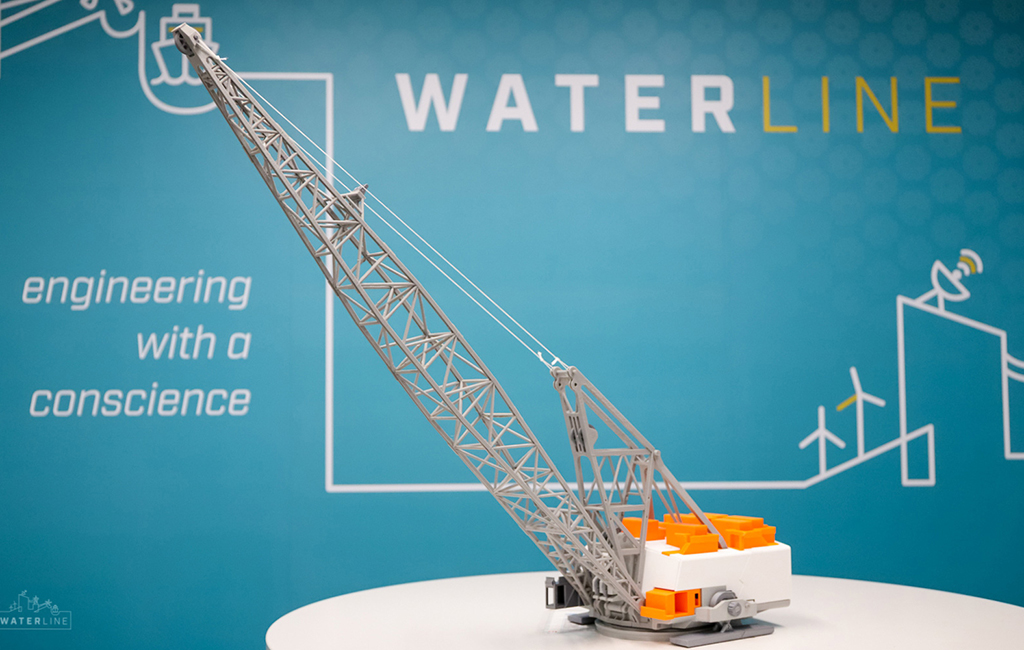 Waterline 3D-printed Dragline for BMA