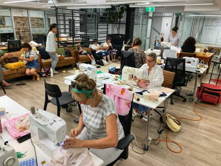 Waterline HQ transformed to a sewing hive of activity