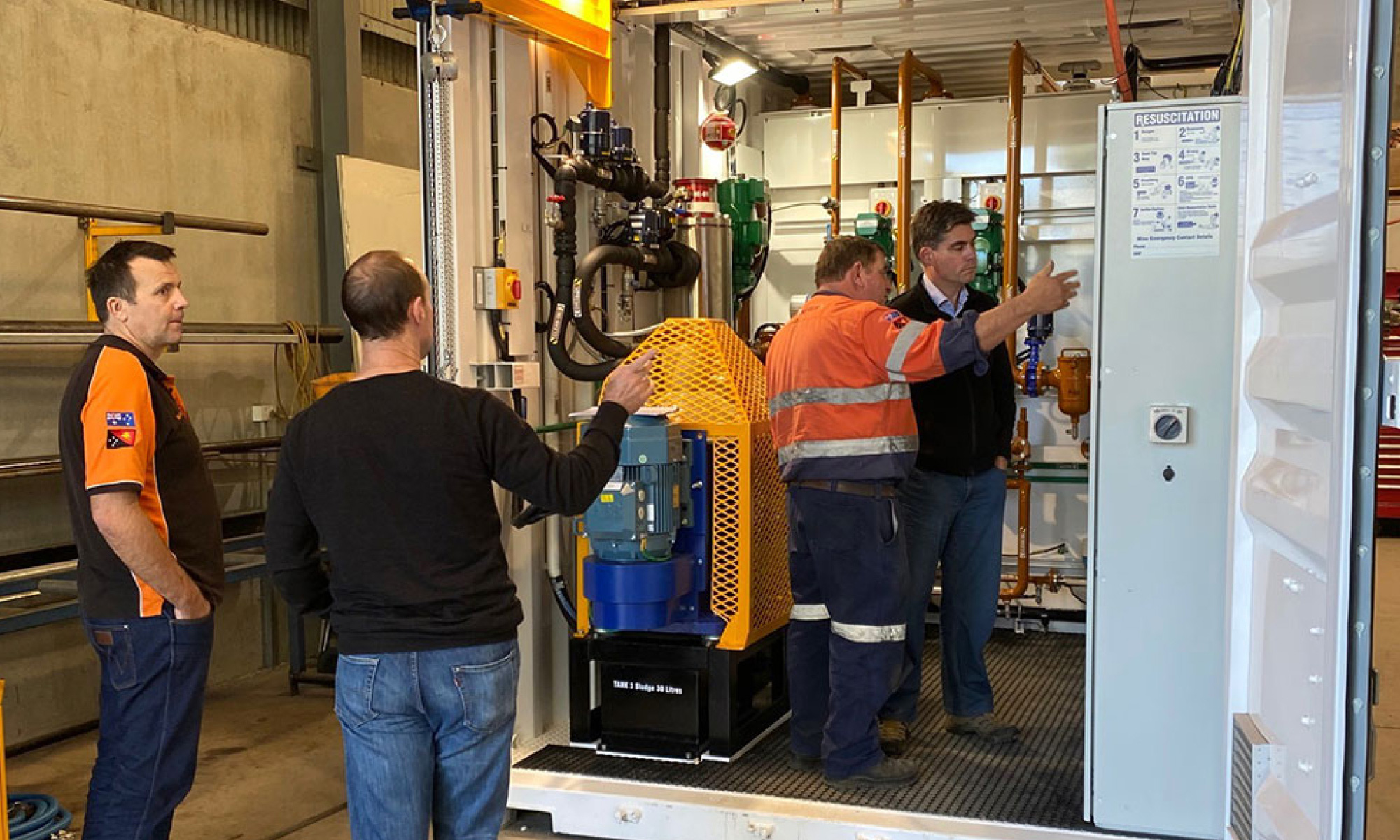 Explaining the operation in a Factory Acceptance test