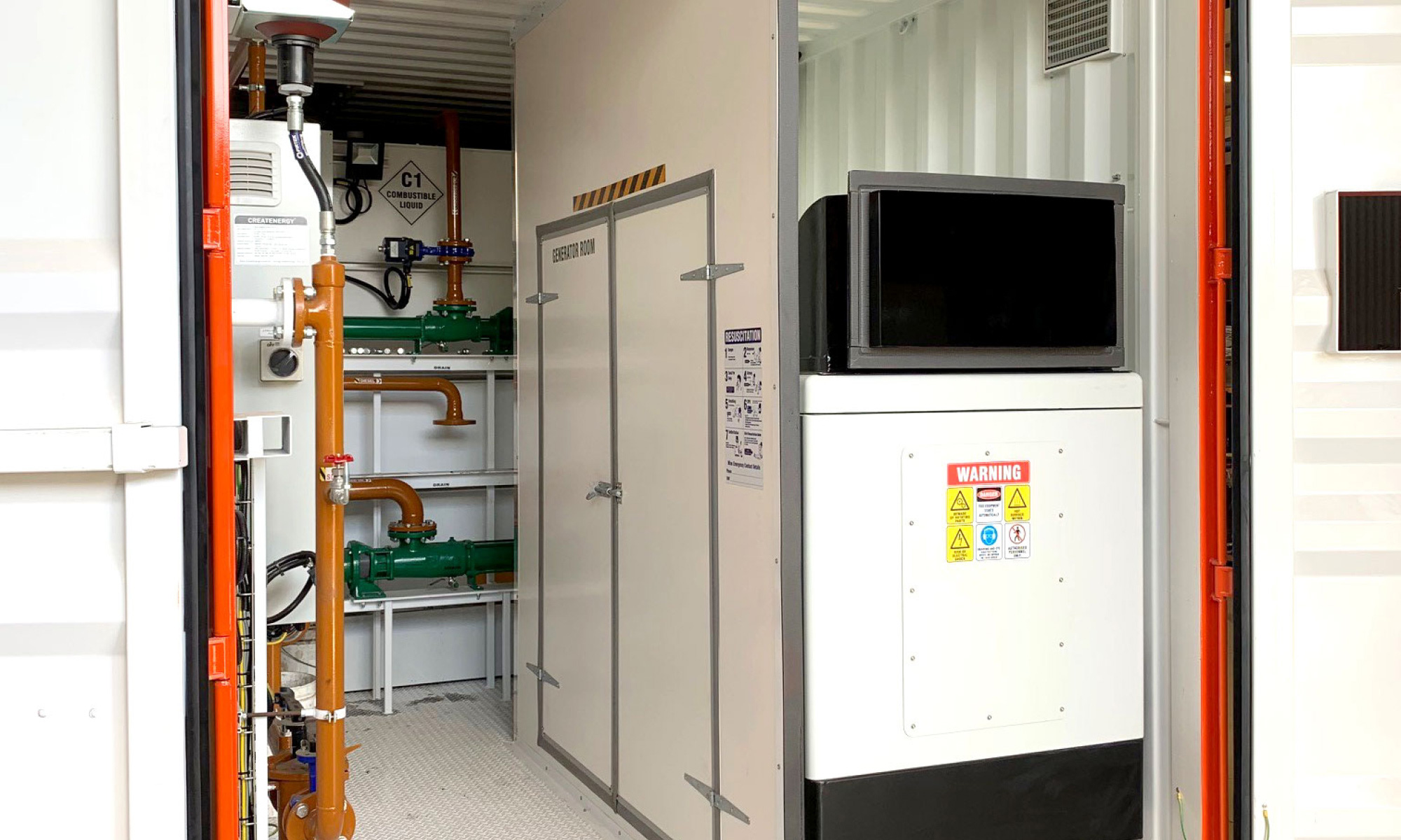 CreatEnergy Container Ready for deployment – A containerised unit near completion
