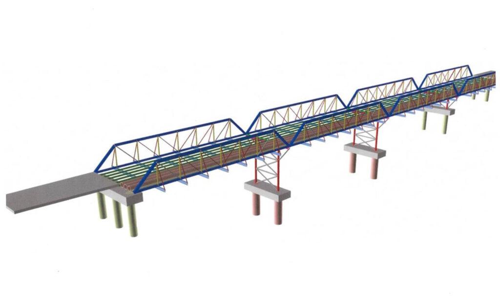 Design of Oaky Creek's capital bridge
