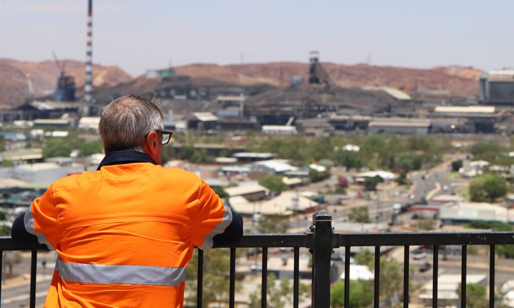 John Gilley on site in Central Queensland