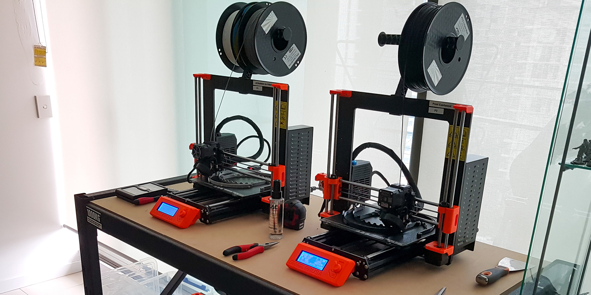 Waterline's 3D printers in action