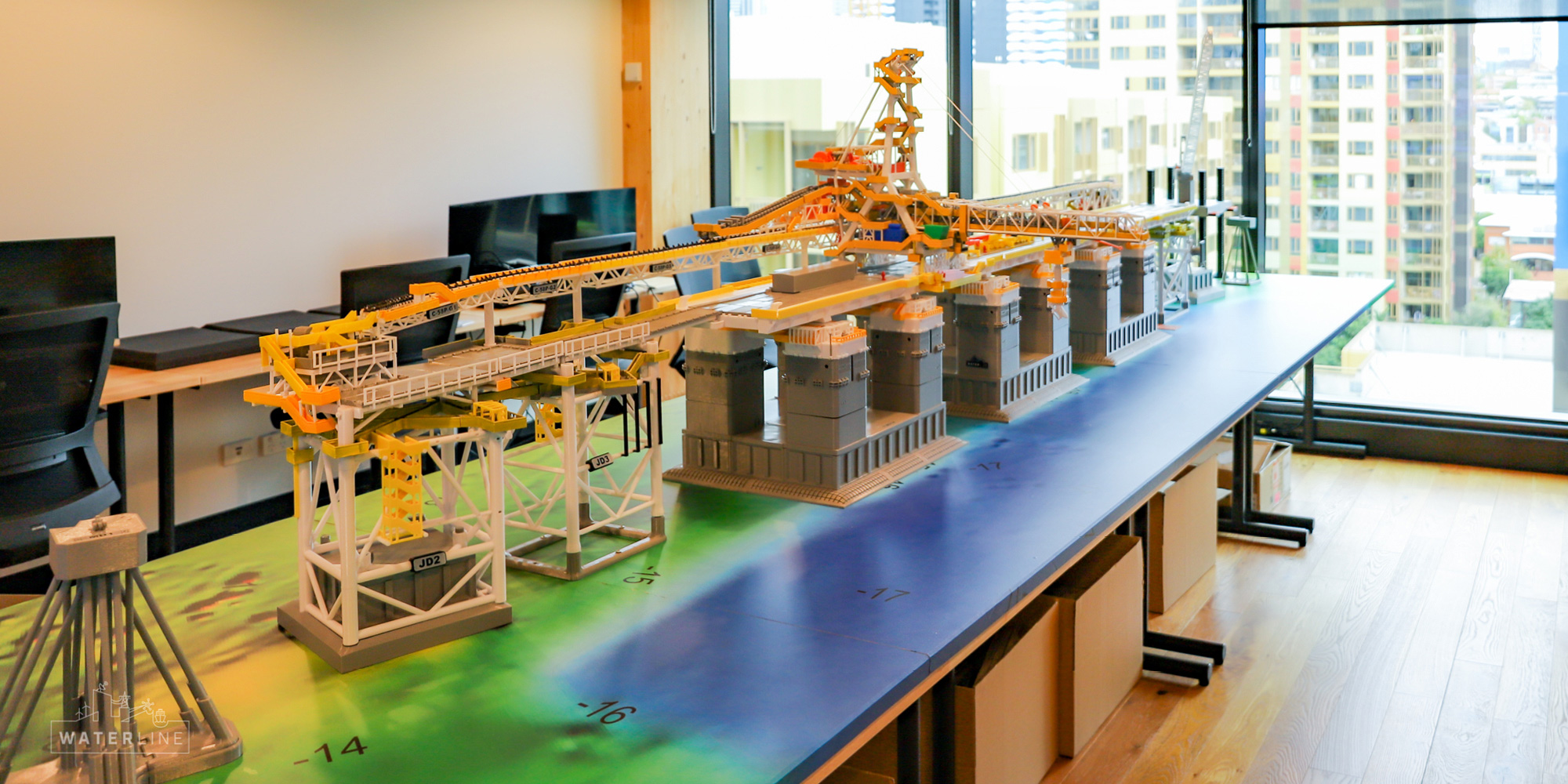 Waterline delivering the completed 3d-print to BHP