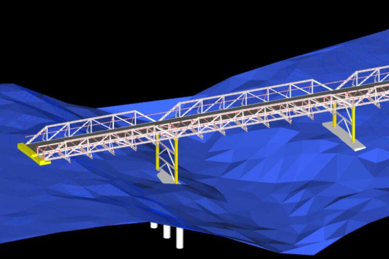 Waterline Glencore Oaky Creek COal Mine gas drainage bridge