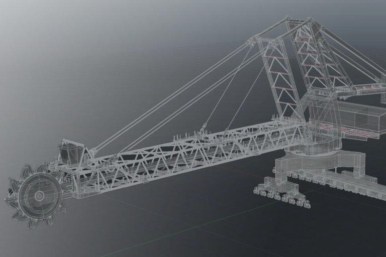 Waterline Design Drafting services 3D modelling reclaimer